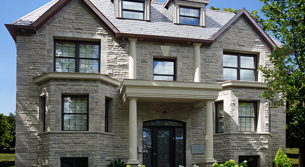 Bradstone full depth manufactured stone exterior stone for Exterior natural stone for houses
